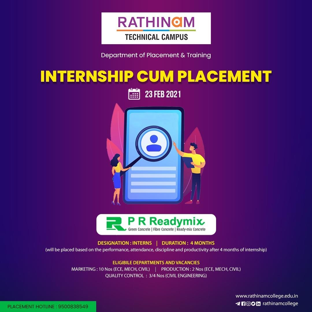 INTERNSHIP AND PLACEMENT