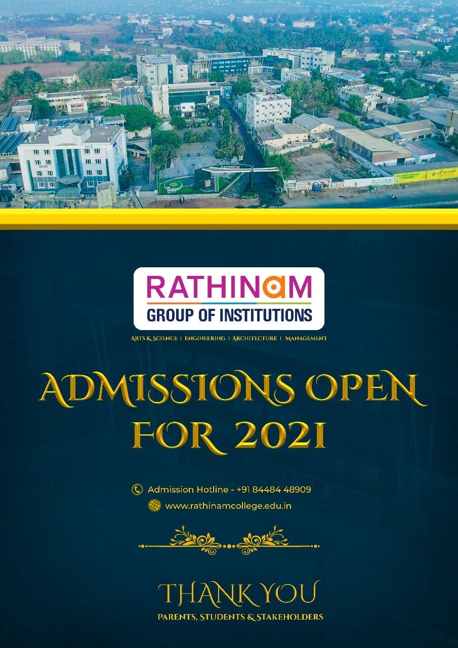 RATHINAM ADMISSIONS 2020.