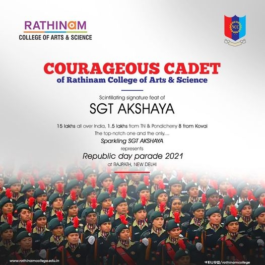 Courageous CADET of Rathinam College
