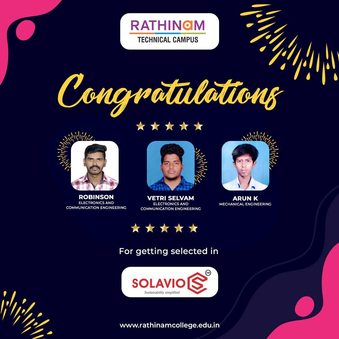 RTC STUDENTS GOT PLACEMENT IN SOLAVIO LABS